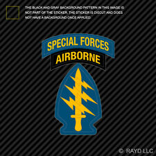 US Army Special Forces Airborne Sticker Self Adhesive Vinyl Green Berets