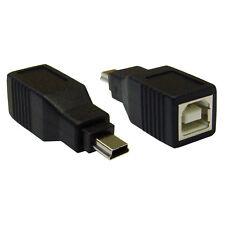 USB B Female to USB Mini-B 5 Pin Male Adapter  WC-30U1-08300