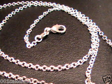 "925 SILVER 16"" PLAIN FINE 1.2mm ""O"" DAINTY CHAIN NECKLACE LOBSTER CLASP NEW"