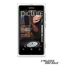 3 Pellicola OPACA per Nokia Lumia 800 Protettiva Pellicole MATT ANTIRIFLESSO