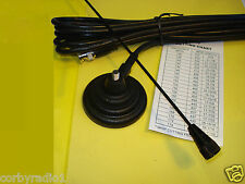 TAXI MAG MOUNT ANTENNA - BLACK DELUXE - BNC - 162-174MHZ COMPLETE SMC10 60MM