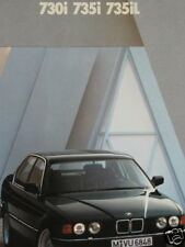 Prospekt brochure BMW E32 730i 735i 735iL1989
