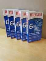 Lot of 5 Maxell [Blank] VHS Videocassette T-120 - 6 Hour Standard Grade (Sealed)
