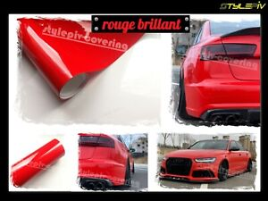 Film vinyle covering rouge Ferrari brillant 152 x 30 cm thermoformable adhesif