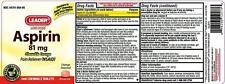 Leader Low Dose Aspirin Baby Chewable Tablets, Orange, 81mg 1000/Btl Exp 01/2020