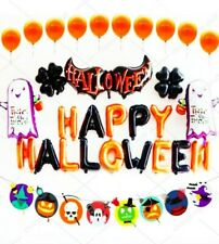 Happy Halloween Complete Party Balloons Set Orange Black Trick or Treat Decoratn
