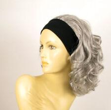 parrucca con bandana elastica ricci corta grigio ref ema 51 peruk