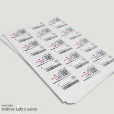 Etiquettes, vignette affranchissement pour timbre en ligne planche de 24