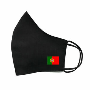 Portuguese Flag Mask Protective Covering Washable Reusable Breathable Portugal