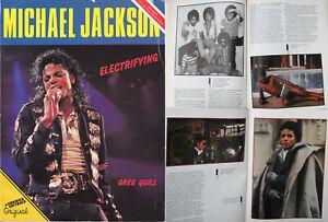 Michael Jackson Livre ELECTRIFYING Greg Quill English British UK Book 1988