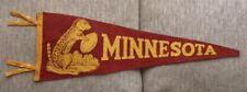 >orig./Rare!! 1940's University of MINNESOTA GOLDEN GOPHERS **Football Pennant**