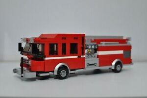 LEGO Fire Truck Engine Rescue Red Ladder Rescue 1 Speed Champions Custom MOC