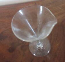 Antique English Wine Sherry Medicine Glass 18th c. Pourer Spout Measure
