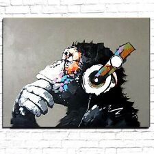 Modern Abstract Monkey - Large Oil Canvas Art Painting!!