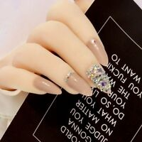 Press On Nails Bling Crystal False Nail Women Manicure Art Tools Hands Accessory
