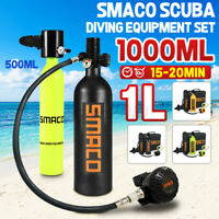SMACO 0.5/1L Diving Respirator Oxygen Cylinder Tank Underwater Scuba Equipment