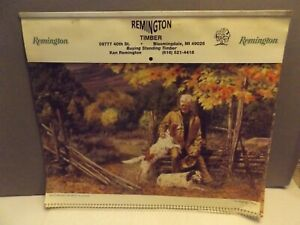 "2001 Wildlife Calendar from REMINGTON TIMBER of Bloomingdale Mi.  14' x 22"" hung"