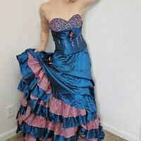 Milano Formals Large Quinceanera Dress Poof Princess Ruffle Tiered Poof