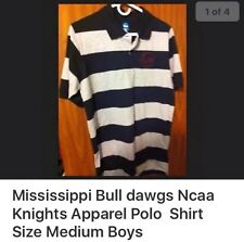 NCAA By Knights Apparel MISSISSIPPI STATE - BOYS Polo Striped Shirt MEDIUM