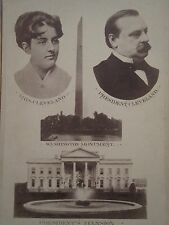 1891 GROVER CLEVELAND 1st LADY CAMPAIGN CARD PHOTO CIVIL WAR PENSION ATTY CRALLE