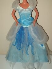 Barbie Doll Clothes 2 Piece Princess Gown Blue White Top & Skirt