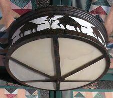 Disney Wilderness Lodge Resort buffalo scene large ceiling light / lamp /  Prop
