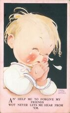 """Postcard Mabel Lucie Attwell """"Help Me Forgive My Friends"""" posted 1938"""