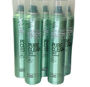 Garnier Fructis Refresh Style Pure Clean Dry Shampoo, 3.4 oz 5Pack *Dented Cans*