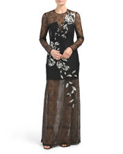 BCBG MAX Veira Gown With Lace Skirt Dress, Size 0 $479 Sold out!