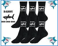 Shark Doo Doo Doo Daddy Grandad Uncle Brother Sister birthday novelty gift Socks