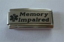 Italian Charms Superlink  Medical Alert Memory Impaired L86