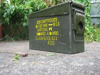 Genuine Army Military Ammo Box Can Tin 30 Cal Ammunition Tools Storage Nato 7.62