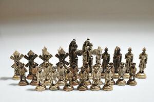 Vintage 32 Piece Chess Pieces Lot