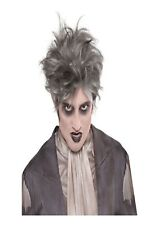 Adults Zombie Crypt Wig Mens Ghostly Ghost Halloween Fancy Dress Accessory Hair