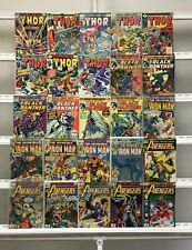 Vintage Marvel  Thor Black Panther Iron Man Avengers Marvel  25 Lot Comic Book