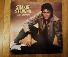 Shakin' Stevens Get Shakin' PROMO VG+ Vinyl LP VG+ Record Cover EPIC FE 37415