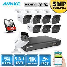 ANNKE 8CH Außen Überwachungskamera 4K 8MP DVR EXIR Nachtsicht 5MP Kameras H.265+