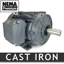 10 hp electric motor 215t 1800 rpm 3 phase severe duty NEMA Premium 3 yr warrnty