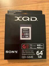 Sony G Series 64GB XQD Memory Card QD-G64E: 440MB/sec. read, 400MB/sec. write