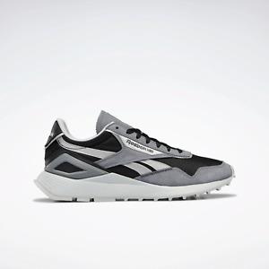 Reebok Mens Classic Leather Legacy AZ Shoes Grey and Black