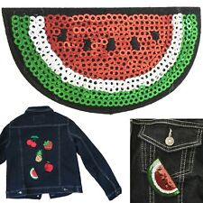 Sequin melon iron on patch fruit water melon pip vitamin juicy transfer patches