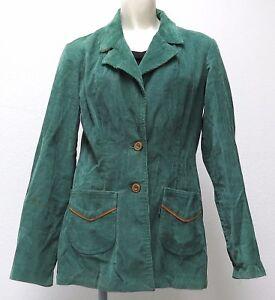 "vtg Levi's IRISH GREEN CORDUROY BLAZER Ladies sz 11-12 ""BIG E"" 60s/70s jacket"