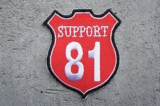 SUPPORT 81 Red White MC Angels 666 Hells vest patch Outlaw Biker 1% NEW harley