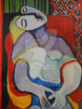 "ACEO ""Le Reve"" (The Dream ) after Pablo Picasso dreaming lady miniature print."