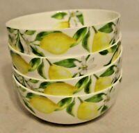 Mikasa Bone China Lemons Small Fruit Bowls Set of 4 New