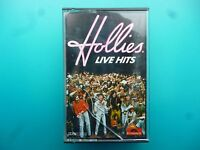 """THE HOLLIES  """" LIVE HITS """"  CASSETTE"""