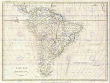 1799 CLEMENT CRUTTWELL MAP SOUTH AMERICA VINTAGE POSTER ART PRINT 2883PY