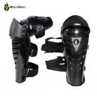 Adults Motorcycle MTB Motocross Knee Pads Shin Guards Protective Brace Satefy