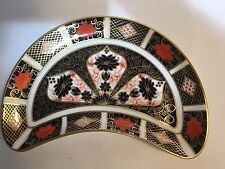 Royal Crown Derby Old Imari Crescent Salad Plate 1st Quality Sold Individually