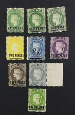MOMEN: ST HELENA SG #34/45 1884-94 CROWN CA MINT OG H £180 LOT #5124